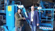 Silvio Hitz van Rent-it (L) en Frank Rodert van Hematec